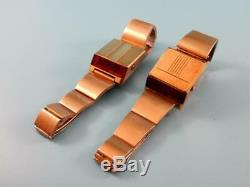Lot of TWO vintage BULOVA COMPUTRON red LED men's watches, for parts or repair