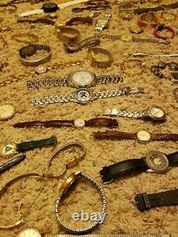 Lot of over 215 watches Vintage, Mens and Womens untested for parts/repair