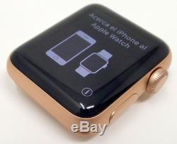 MINT Apple Watch Series 3 38mm Gold Aluminum Case No Band (GPS), iCloud. Read