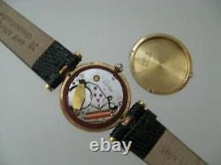 MUST DE CARTIER LADIES VERMEIL GOLD OVER STERLING SILVER WATCH for REPAIR PARTS