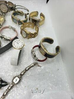 Men & Women Watch Lot 2.6 Lbs Watches Gruen, Geneva Ect For Parts/Repair (Lot 4)