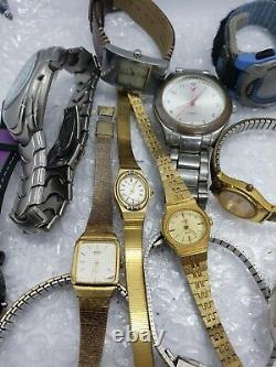 Men & Women Watch Lot 3.4 Lbs Watches Seiko, Timex, Ect For Parts/Repair (Lot 7)