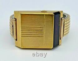 Men's Vintage 1976 BULOVA Computron Digital Red LED Gold Tone Watch (Parts)