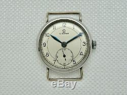 Mens Vintage 1934 Omega Wire Lugs Trench Watch Manual Wind 15 Jewels For Parts