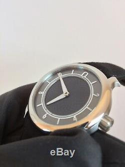 Ming 17.06 Slate Dial Watch. 38mm Stainless Steel, 10mm Thickness
