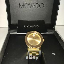 Movado 3600104 Women's Swiss Bold Medium Gold Ion-Plated Watch Damaged Used