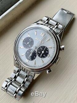 Movado 95M M95 Vintage Panda Chronograph Watch For Parts As-Is