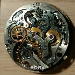 Movimento vintage chrono Universal Geneve 285 + quadrante originale, per ricambi