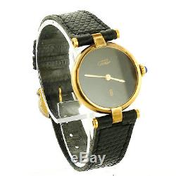 Must De Cartier Argent 925 Silver Gold Plated 20m Ladies Watch For Parts/repairs