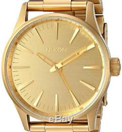 NEW $200 Nixon Sentry 38 SS All Mens Stainless Steel Watch A450502 DAMAGED BOX