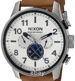 NEW $350 Nixon Men's'Safari Dual Time' Swiss Watch A1082-2092 DAMAGED BOX