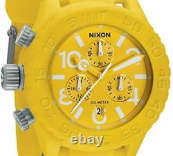 NEW $375 Nixon Men's Watch The Rubber 42-20 Chrono Yellow A309-250 DAMAGED BOX