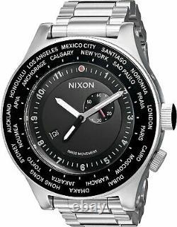 NEW Nixon Passport SS XL Black Stainless Steel Mens Watch A379-000 DAMAGED BOX