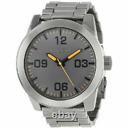 New $200 Nixon Corporal SS Soke Dial XL Mens Quartz Watch A346-1235 DAMAGED BOX
