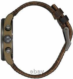 New $275 Nixon Sentry Chrono Leather Watch Bronze Gunmetal A405-2091 DAMAGED BOX
