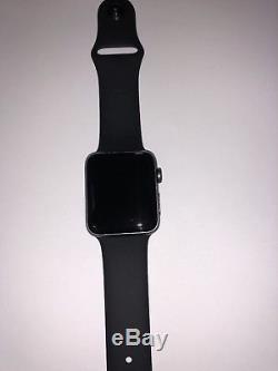 New Open Apple Watch Series 2 42mm Aluminum Gray Black MP062LL/A ID LOCKED