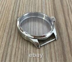 NewUnitas ETA 6498 6497 40mm Stainless Steel Watch Case Sapphire Pilot Crown