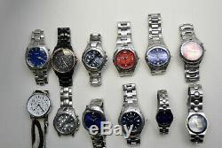 Nice Lot Of Mens 12 Fossil Watches for Parts & Repair