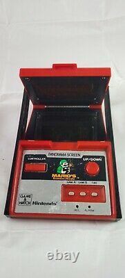 Nintendo Mario Bombs away Handheld Video Game & watch panorama powers up used