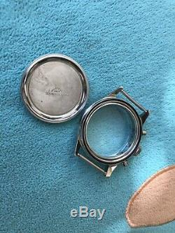 Nos Vintage Gallet Chronograph Ss Case Men's Watch For Part