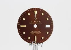 Nos Vintage Gmt Master Nipple Oxblood / Red / Burgundy Dial Gold Indexes