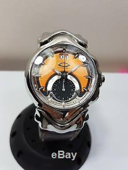 Oakley judge watch copper face not working for parts leather gmt jury