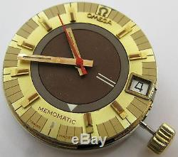 Omega Alarm 980 Watch automatic Memomatic movement & dial for parts