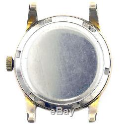 Omega Automatic Seamaster Gold Plated Mens Watch Head For Parts Or Repairs