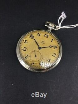 Omega Cal 35.5L Anitique Vintage Pocket Watch For Parts Or Repair