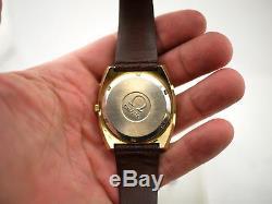 Omega Geneve MegaQuartz 32 KHZ Gold orig Strap Buckle