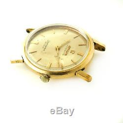 Omega Seamaster De Ville Auto 14k Gold Filled Watch Head For Parts Or Repairs