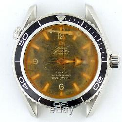 Omega Seamaster Prof Planet Ocean Black Dial S. S. Watch Head For Parts/repairs