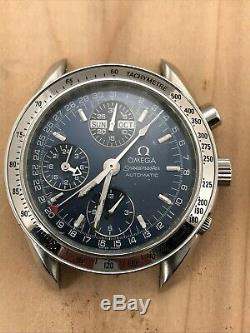 Omega Speedmaster Auto 175.0084 Entire Stainless Steel Watch For Parts or Repair