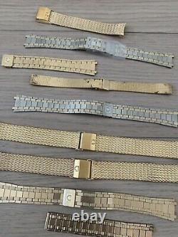 Omega Vintage Bracelet Band Lot For Watch Parts And Repair Watches Gold Filled
