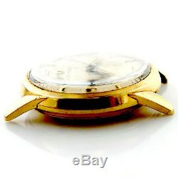 Omega Vintage Ivory Dial 14kt Gold Filled Watch Head For Parts Or Repairs