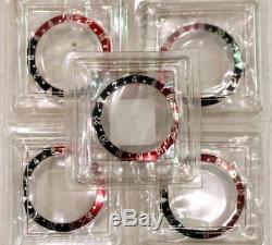 One NOS Men's Rolex GMT-MASTER II 16700,16750,16760 Black & Red Insert S/S Z4