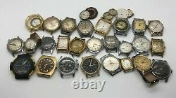 One lot of 29 Assorted Wrist Watches, not working, for repair or parts. Sold As