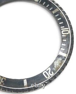 Orig vintage Rolex submariner 5513 Bezel & insert faded