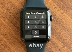Original Apple i Watch Series 3 42MM LTE Space Gray Aluminum Case FOR PARTS