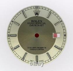 Original Men's Datejust QS 116200 116220 116234 Silver Slate Bulls Eye S/S #L86