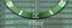Original Men's Rolex 50 Anniversary Submariner 16610LV Green Bezel Insert #D5