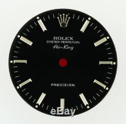 Original Men's Rolex Air-King Precision Gloss Black Stick 14010 Dial S/S #C28