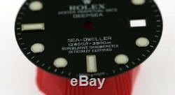 Original Men's Rolex DEEPSEA Sea-Dweller 116660 Gloss Black Dial S/S #W11