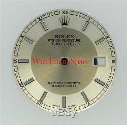 Original Men's Rolex Datejust 116200 116234 Silver Slate Bulls Eye Dial S/S #L20