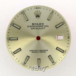 Original Men's Rolex Datejust 41mm 126334, 126300 Silver Stick Dial S/S #E8