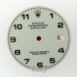Original Men's Rolex Datejust QS 116200 116234 Gloss White Arabic Dial S/S #V4