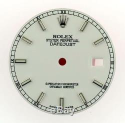 Original Men's Rolex Datejust QS 116200 116234 Gloss White Stick Dial S/S #E27