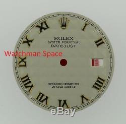 Original Men's Rolex Datejust QS 116203 16018 Irory Pyramid Roman Dial 2T #D58
