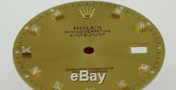 Original Men's Rolex Datejust QS 16013 16233 16203 Champagne Diamond 2/T #A37
