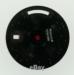 Original Men's Rolex Day-Date II 218349 218239 Black Concentric circle 18KW #A21